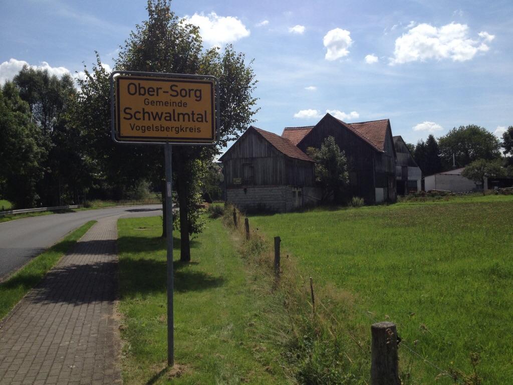 """F71 36318 Schwalmtal (in Hessen) OT Ober-Sorg, Straße: """"Zum Vorgelsberg"""""""